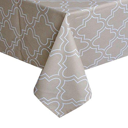 BlauLSS 1 Stk Küche Tischdecke Baumwolle Mischung Table Cover Quadratische Tischdecke akzeptieren Anpassen Cute Cartoon Caster gedruckt, 2802,215 cm Rnd 130x130cm Dark Khaki