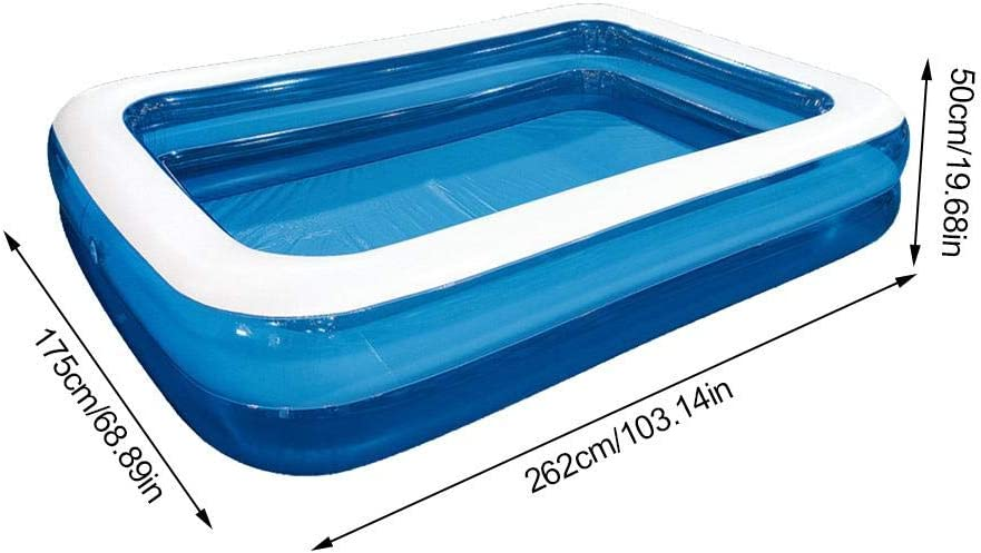 Backyard Garden Lawn Summer Water Toys for Outdoor Inflatable Swimming Pool Thicken Kiddie Pool Family Full-Sized Lounge Padding Pool for Kids and Adult