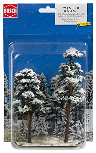 Busch 6155 Snow-Caved Trees 130/160mm HO Scenery Scale Model