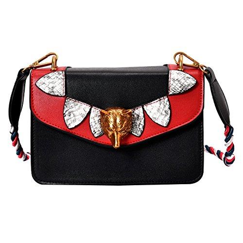 Millya - Bolso al hombro para mujer, red (rojo) - bb-00797-01 negro