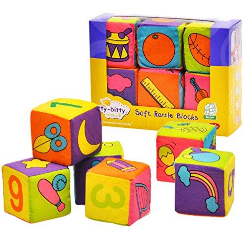 6PCS/Set Soft Cloth Books Infant Educational - 1