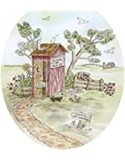 Toilet Tattoos, Toilet Seat Cover Decal, Lori's Outhouse Design, Size Elongated