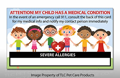 2 Pk. My CHILD Has SEVERE ALLERGIES Medical Condition ICE...
