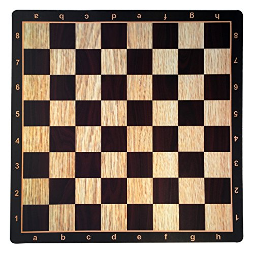 WE Games Wenge with Rosewood & Light Wood Mousepad Chessboard, 20 inches - made in USA