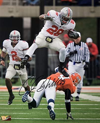 - Chris 'Beanie' Wells Ohio State Buckeyes 16-1 16x20 Autographed Photo - Certified Authentic