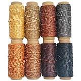 Cordón de hilo encerado para manualidades de piel, 1 mm de diámetro, 8 hilos de colores, cada uno de 10 m