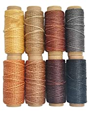 264 Yards 150D Leather Sewing Waxed Thread Cord for Leather Craft DIY 1mm Diameter 8 Colors Sewing Thread Cord,Each of 33 Yards