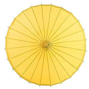 No: 1 bambú chinos japonesa sustancias sol paraguas blanco, amarillo