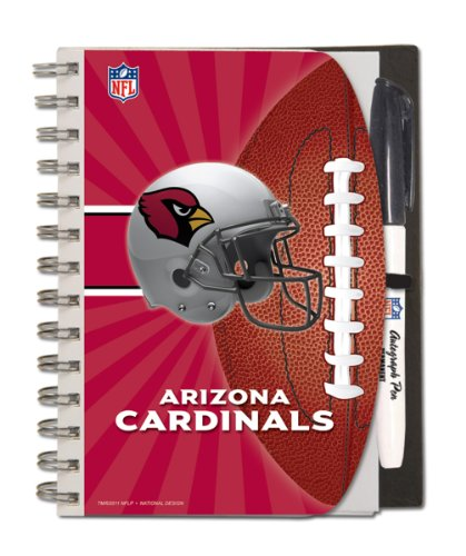 Arizona Cardinals Deluxe Hardcover, 5 x 7 Inches Autograph Book and Pen Set, Team Colors (12025-QUA)