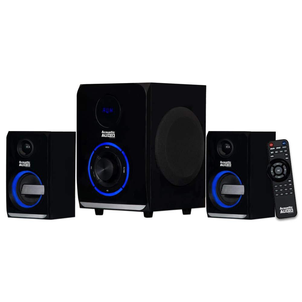 Acoustic Audio LED Bluetooth 2.1-Channel Home Theater Stereo System Black (AA2105) by Acoustic Audio by Goldwood