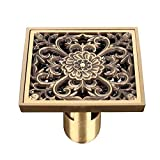 Floor drain/full copper antiquity and odorization bathrooms,20123 bronze U type