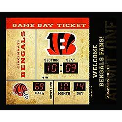 Team Sports America Cincinnati Bengals Bluetooth Scoreboard Wall Clock