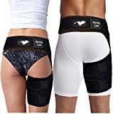Strong Lion Running Hamstring Compression Sleeve for Thigh Hamstring Groin Support | Hamstring Sleeve for Right or Left Leg | Ideal for Running, Sports, and at Work or Home | Unisex - Fits Avg. Body