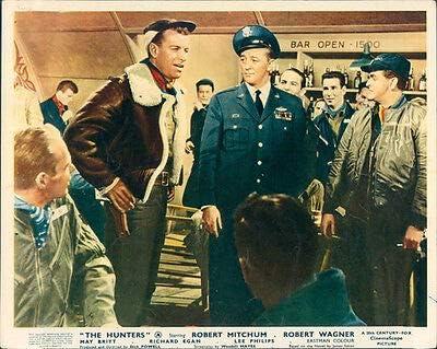 Amazon.com: The Hunters Original Lobby Card Robert Mitchum Richard Egan in  bar: Posters & Prints