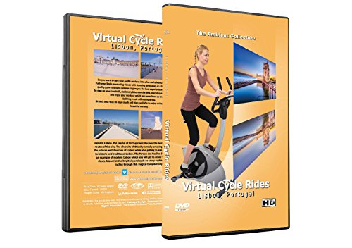 Virtual Cycle Rides DVD - Lisbon, Portugal - for Indoor Cycling, Treadmill and Running Workouts