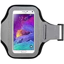 Avarious Neoprene Armband for Alcatel Flash (2017), 5.5-inch, Grey