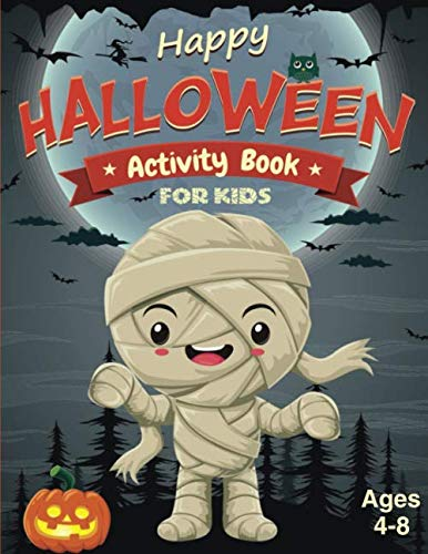 Challenging Halloween Dot To Dots (Happy Halloween Activity Book for Kids Ages 4-8: Fun And Challenging Halloween Themed Dot To Dot, Word Search, Mazes Activity Puzzles and More For The Spooky Season! (Halloween Books For)