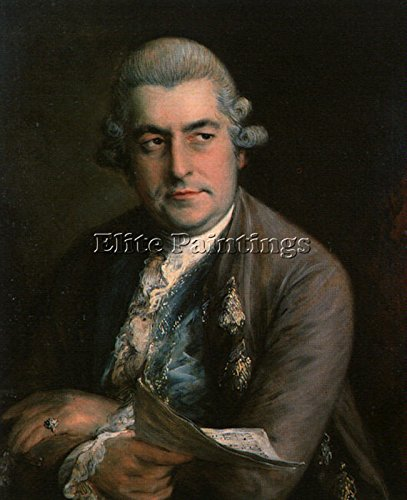 THOMAS GAINSBOROUGH JOHANN CHRISTIAN BACH ARTIST PAINTING OIL CANVAS REPRO DECO 48x40inch by Elite-Paintings