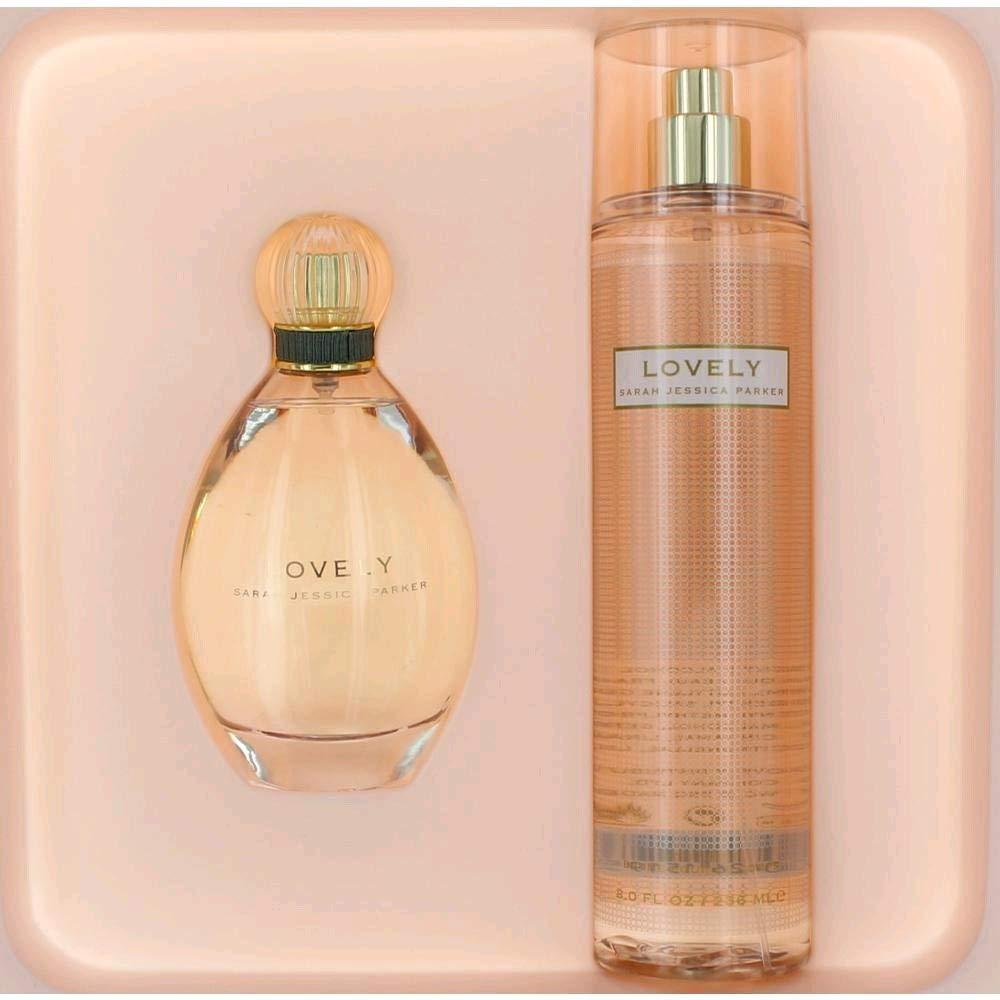 Lovely by Sarah Jessica Parker Gift Set - 3.4 oz Eau De Parfum Spray 8 oz Body Mist Women by Sarah Jessica Parker
