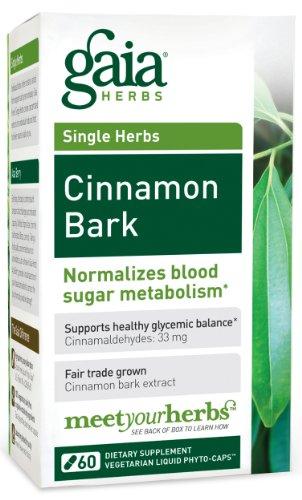Gaia Herbs Cinnamon Bark, 60 bouteilles capsule remplie de liquide