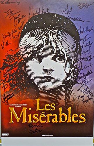 "Les Miserables ~ Original 14"" x 22"" Signed Window Card Poster"