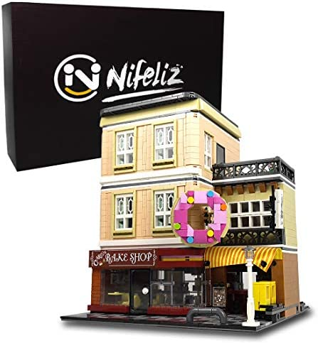 Nifeliz Street Bake Shop MOC Building Blocks and Engineering Toy Construction Set to Build Model Set and Assembly Toy for Teens and Adult(2919 Pcs)