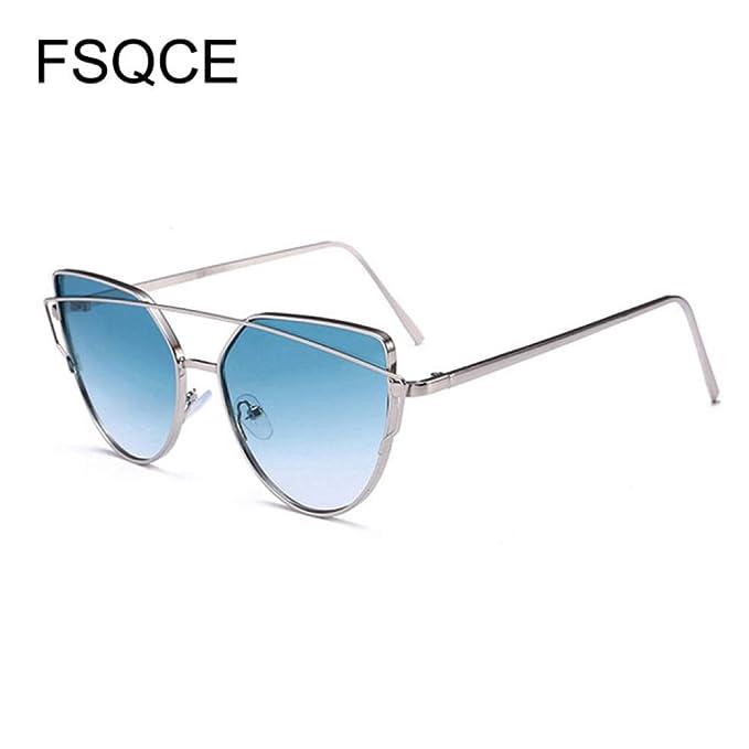 Yangjing-hl Gafas de Sol Retro Mujer Gafas de Sol de Ojo de ...