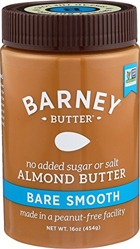 Barney Butter Almond Butter, Bare Smooth, 16 Ounce, Package may vary Almonds 16 Oz Jar