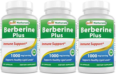 Best Naturals Berberine Plus 1000 mg/Serving 120 Capsules - Berberine for Healthy Blood Sugar (3 Pack) by Best Naturals (Image #6)