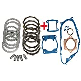 Clutch Kit Springs Plates with Complete Gaskets for Yamaha YFS 200 Blaster 200 1988-2006