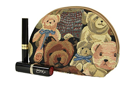 Estuche de maquillaje de moda Signare para mujer en tela de tapiz ovieja oso