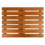 Thirteen Chefs Villa Acacia Premium Wooden Bath Mat and Outdoor Wood Shower Floor, Extra Large 24 x 24 Inches Square