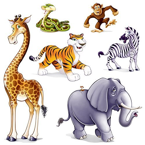 Jungle Animal Props Party Accessory (6/Pkg) (Value 3-Pack)