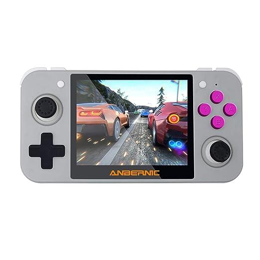 Goolsky RG350 Consola de Videojuegos Retro Reproductor de Juegos Portátil de 16 GB Pantalla IPS de 3,5 Pulgadas Salida de TV Soporte Recargable ...