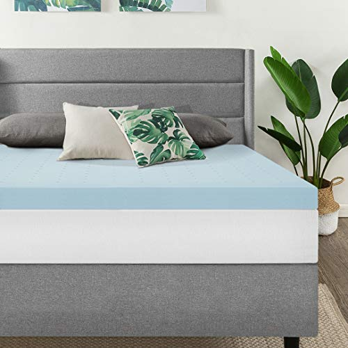 Best Price Mattress, 3 Inch Gel Memory Foam Mattress Topper/Mattress Pad, Certipur-US Certified, Short Queen ()