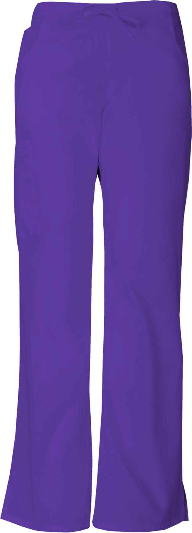 Dickies Everyday Scrubs Signature by Women's Mid Rise Drawstring Cargo Pant X-Large Grape