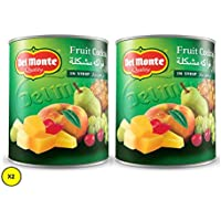 Del Monte Fruit Cocktail Chery Syrup, 825 gms , (Pack of 2)