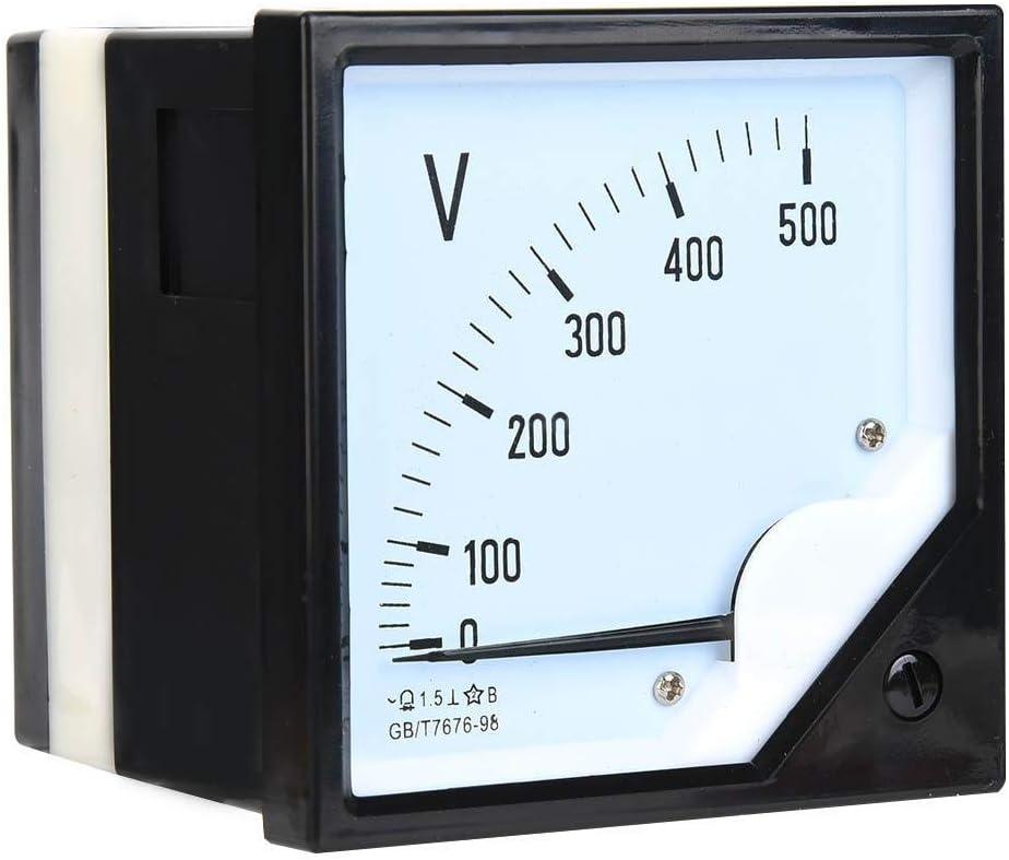 Voltmetro Analogico AC 0-500V per Dispositivi di Controllo Elettronico Misuratore di Tensione a Pannello Quadrato
