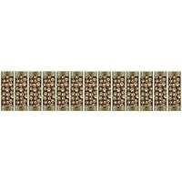 Stair Treads Skid Slip Resistant Backing Indoor Carpet Stair Treads Pet Paw Design 8 ½ inch x 26 ¼ inch (Set of 13, Brown Teal)