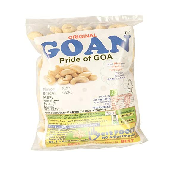 Original Goan Natural Cashew Big Size 200g