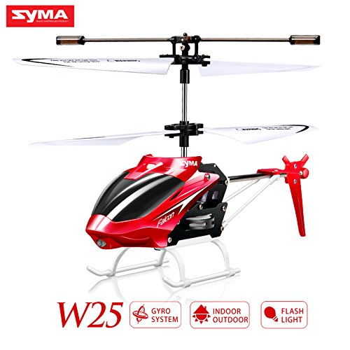 Syma W25 Remote Control Helicopter Shatterproof RC Helicopter-Red