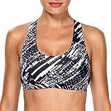 Cheap belamo Sport Yoga Tank top Bra for Women Running Bra Racer Back Sport Bra
