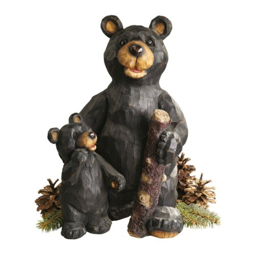 Black Sculpture Design - Design Toscano Black Forest Bear Pair Sculpture