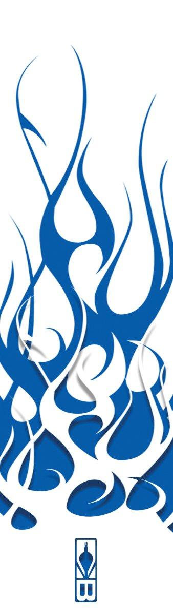 Bohning Archery Club Blue & White Flame HD Small Arrow Wrap, 12pk