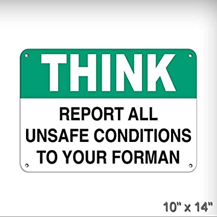 Amazon Com New Report All Unsafe Conditions To Your Foreman Safety