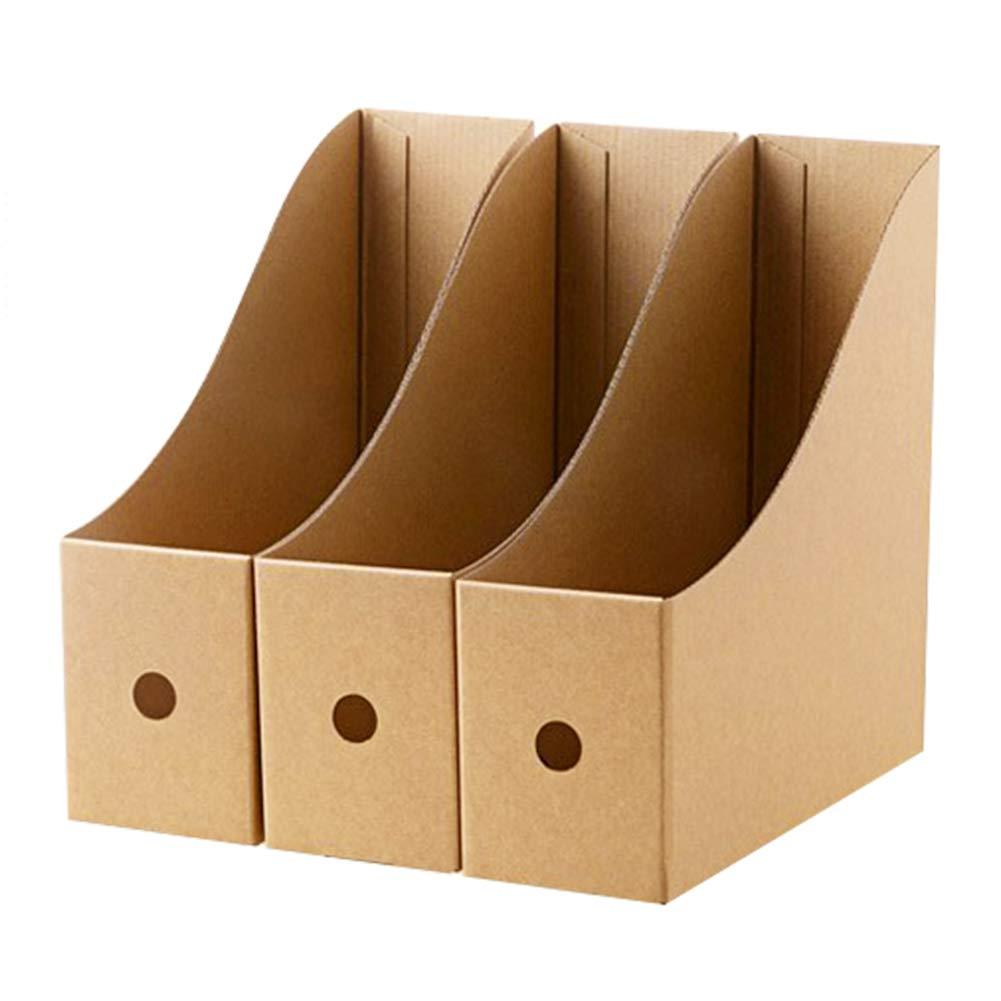 scuola 9 x 26 x 27 cm studio 5 St/ücke Portariviste in cartoncino per ufficio organizer per documenti Braun portadocumenti LxBxH