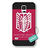 Onelee(TM) Japanese Anime Attack On Titan Logo Frosted Samsung Galaxy S5 Case & Cover - Black12