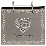 Malden International Designs Wedding Happily Ever After Flip Album Picture Frame, 4x6, Silver