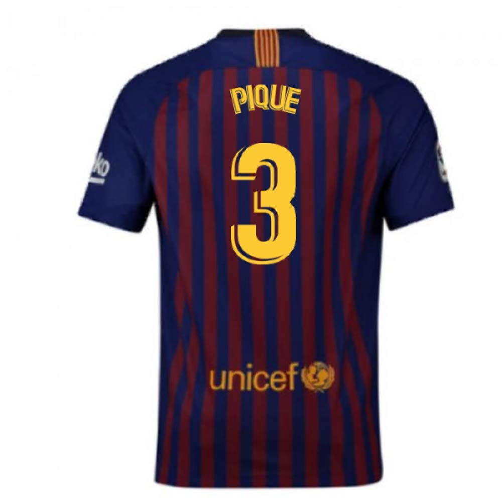 2018-2019 Barcelona Home Nike Football Soccer T-Shirt Trikot (Gerard Pique 3) - Kids
