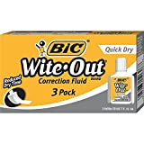 BIC Wite-Out Quick Dry Correction Fluid - 3 Pack (BICWOFQD324)
